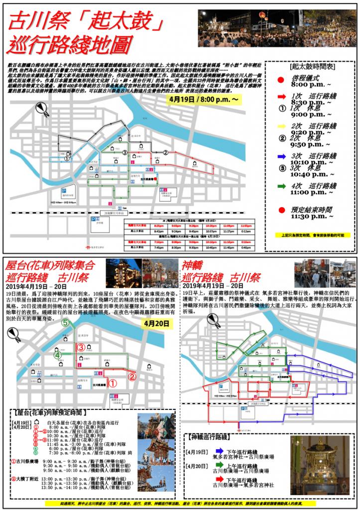 古川祭中国語パンフレット